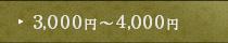 2,500円~3,000円
