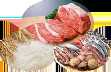 肉、魚介、米など、安心安全を第一にお客様の感動のために、食材を吟味しています。